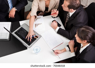 Business team at the meeting