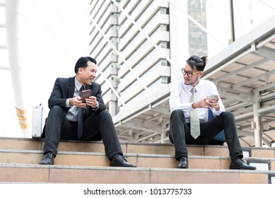 Business Team Meeting Discussion Break Concept,Group of businessman partners.