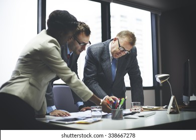 Business Team Meeting Discussion Connection Concept