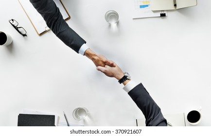 Business Team Meeting Handshake Applaud Concept