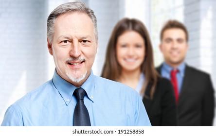 Business team in a modern office