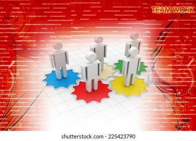 Business Team On Cog