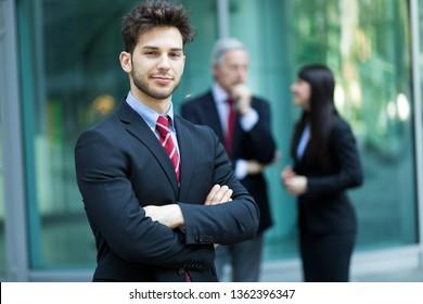 Business team outdoor