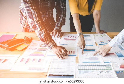 Business team people meeting and tech to discuss and brief work the solution and innovation on the market, Business Concept. - Shutterstock ID 658293388