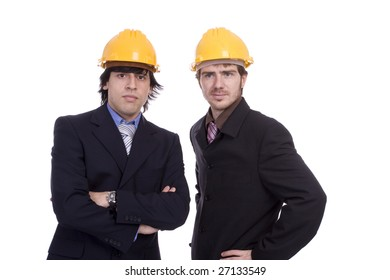 business team posing isolated over white background