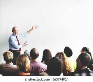 Business Team Seminar Listening Meeting Concept