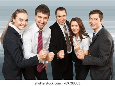 Business team showing unity