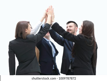 business team shows its success