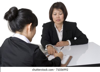Business team sitting at desk together