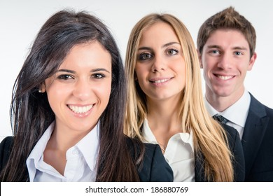 Business team standing togetherness - Stock Image