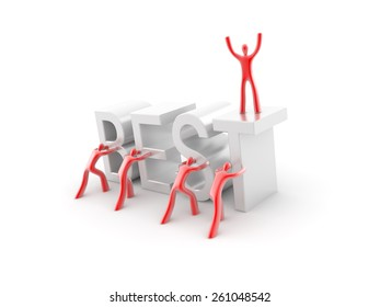 Business and team work conceptual image, 3d render isolated on white.