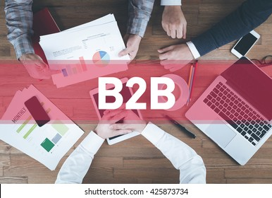 Business team working and B2B concept