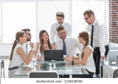 business team at a working meeting in the office