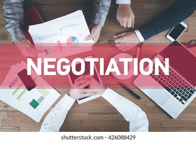 Business team working and Negotiation concept