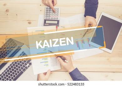 BUSINESS TEAM WORKING OFFICE KAIZEN CONCEPT