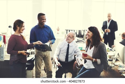 Business Team Working Office Worker Concept