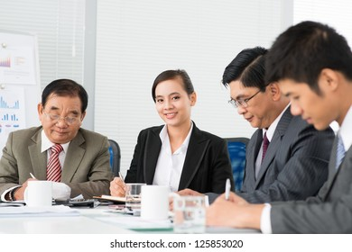 Business team at working process
