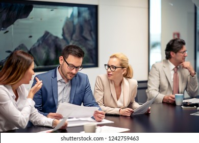Business team working together at meeting room at office.