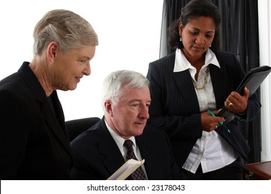 Business team working together in their office