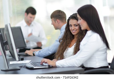 business team in the workplace in the office