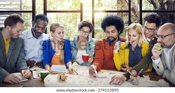 Business Teamwork Communication Brainstorming Concept
