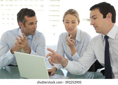 Business teamwork at a meeting