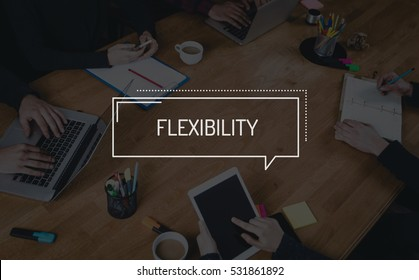BUSINESS TEAMWORK WORKING OFFICE BRAINSTORMING FLEXIBILITY CONCEPT