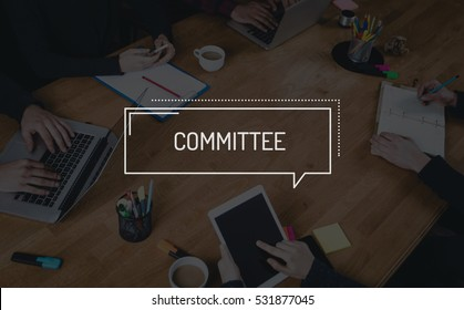 BUSINESS TEAMWORK WORKING OFFICE BRAINSTORMING COMMITTEE CONCEPT