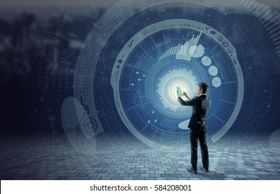 business and technology concept, financial technology, Internet of things, abstract image visual