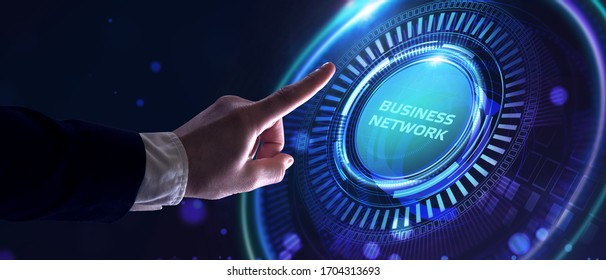Business, Technology, Internet and network concept. Online Business Network.