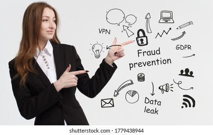 Business, technology, internet and network concept. Young businessman thinks over ideas to become successful: Fraud prevention