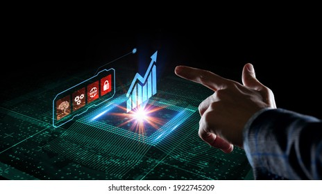Business, Technology, Internet and network concept. Financial Graph. Stock Market chart. Forex Investment.