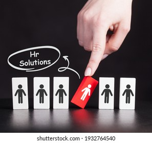 Business, Technology, Internet and network concept. Hr Solutions.