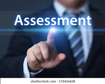 business, technology, internet and networking concept - businessman pressing assessment button on virtual screens