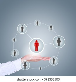 business, technology, internet, networking and recruitment concept