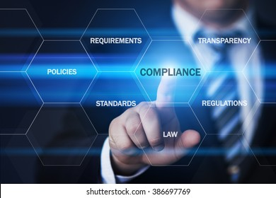 business, technology, internet and virtual reality concept - businessman pressing compliance button on virtual screens with hexagons and transparent honeycomb