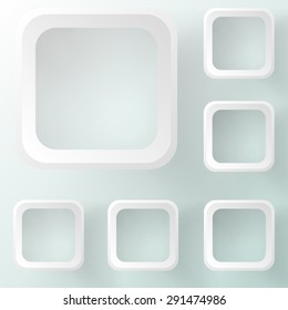 Business template or cover with squares
