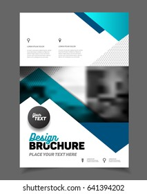 Business template illustration. Magazine cover trend style.