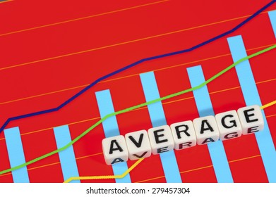 Business Term with Climbing Chart / Graph - Average