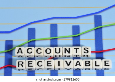 Business Term with Climbing Chart / Graph - Accounts Receivable