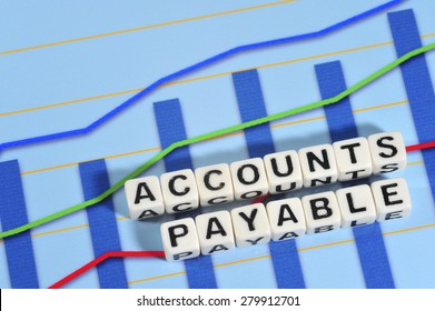 Business Term with Climbing Chart / Graph - Accounts Payable