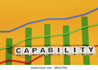 Business Term with Climbing Chart / Graph - Capability