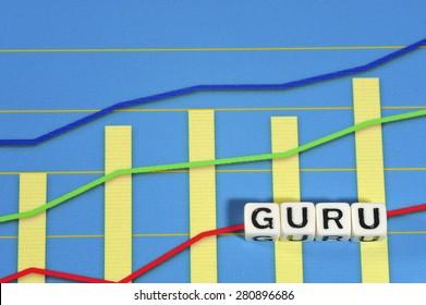 Business Term with Climbing Chart / Graph - Guru