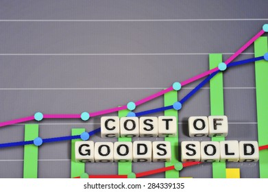 Business Term with Climbing Chart / Graph - Cost of Goods Sold