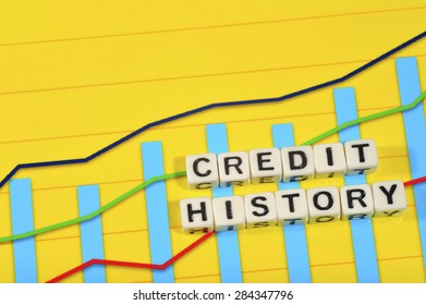Business Term with Climbing Chart / Graph - Credit History