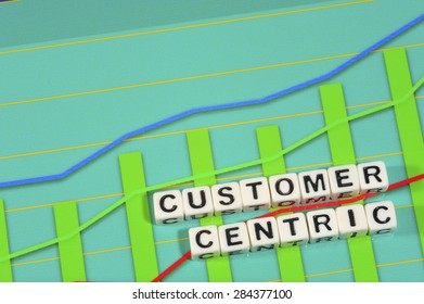 Business Term with Climbing Chart / Graph - Customer Centric
