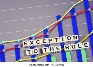 Business Term with Climbing Chart / Graph - Exception To The Rule
