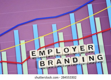 Business Term with Climbing Chart / Graph - Employer Branding