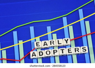 Business Term with Climbing Chart / Graph - Early Adopters