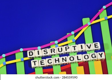 Business Term with Climbing Chart / Graph - Disruptive Technology